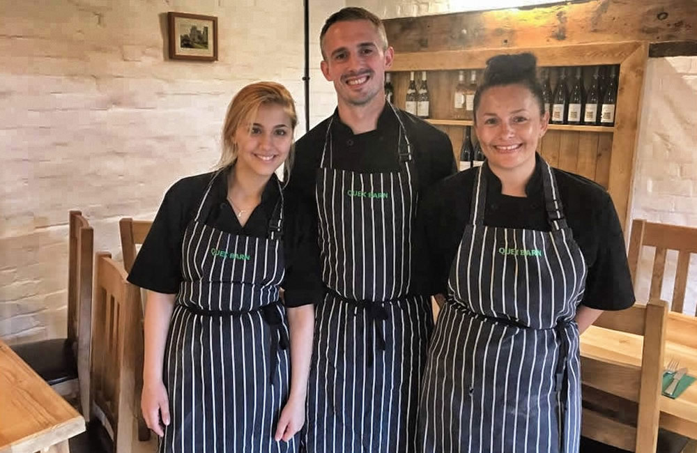 Quex Barn team of chefs